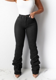 Women fashion black pants