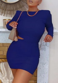 (Pre-Sale)2020 Styles Women Fashion Solid Color Long Sleeve Mini Dress