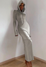 (Pre-Sale)2021 Styles Women Fashion INS Styles Hoodie Long Sleeve Maxi Dress